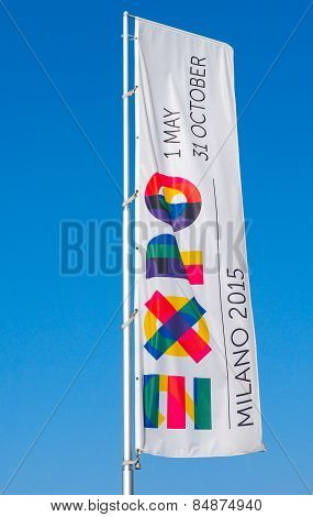 International Exhibition Milan Expo 2015 giant flag