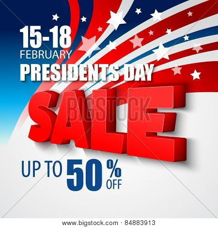 Presidents Day Vector Background. USA Patriotic illustration poster
