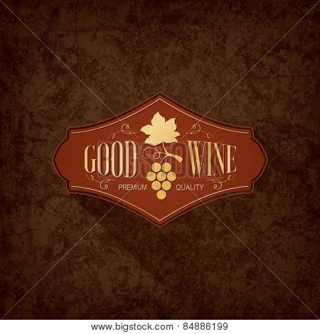 Restaurant menu design. Label, logo design winery