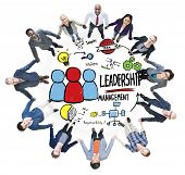 Diversity Casual People Leadership Management Team Support Concept poster