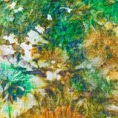 detail of painting on silk batik close up poster