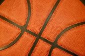 photo of close-up of rubber basketball texture poster