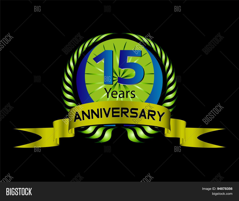 15 Year Anniversary Vector Photo Free Trial Bigstock