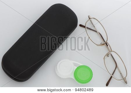 Glasses And Contact Lense Case