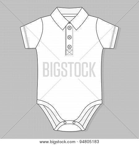 front button placket collar baby bodysuit