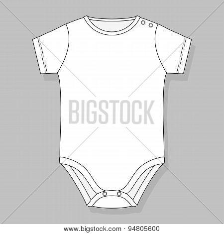 basic newborn baby bodysuit