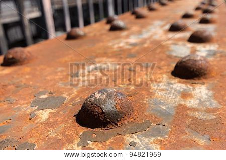 old rusted steel - rusty metal texture / rust texture poster