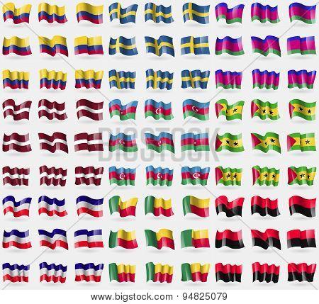 Colombia, Sweden, Kuban Republic, Latvia, Azerbaijan, Sao Tome And Principe, Los Altos, Benin, Upa.