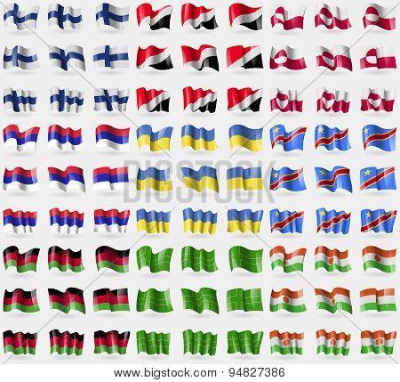 Finland, Sealand Principality, Greenland, Republika Srpska, Ukraine, Congo Democratic Republic, Mala