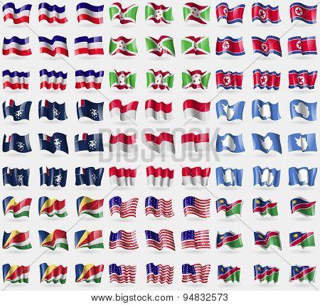 Los Altos, Burundi, North Korea, French And Antarctic, Monaco, Antarctica, Seychelles, Bikini Atoll,
