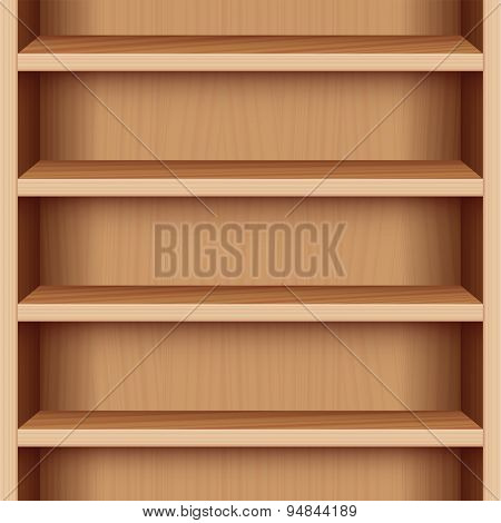 Book Case Wooden Seamless Endless