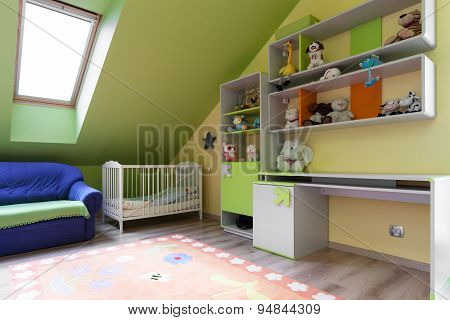 Colorful Room For Baby