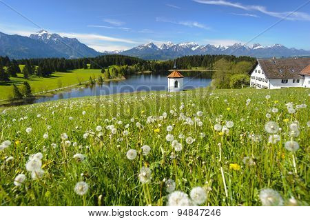 wide panorama landscape in Bavaria