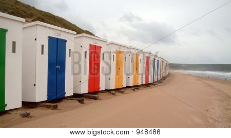 A Day At The Beach Huts