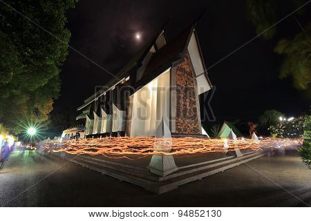 Light Waving Rite In Sala Loi Temple Churches