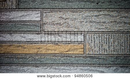 Old Wall Made Of Colored Resin Stone Platen