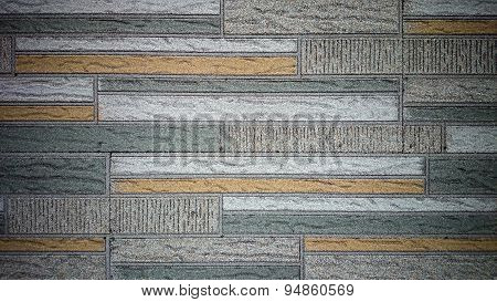Old Wall Made Of Colored Resin Stone Slabs