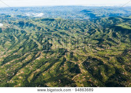 Flying Rural Landscape