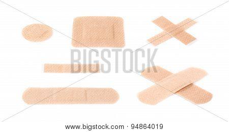 Set of adhesive bandage sticking plasters
