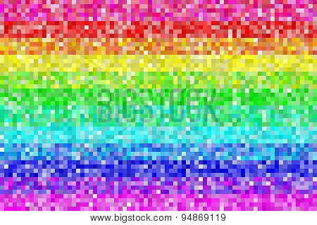 Pixel Rainbow Pattern Background. Eps8 Vector