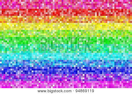 Pixel Rainbow Pattern Background. Eps8 Vector