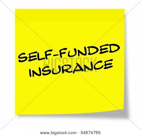 Self Funded Insurance Yellow Sticky Note