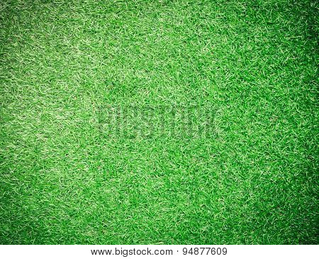 Green artificial turf for background