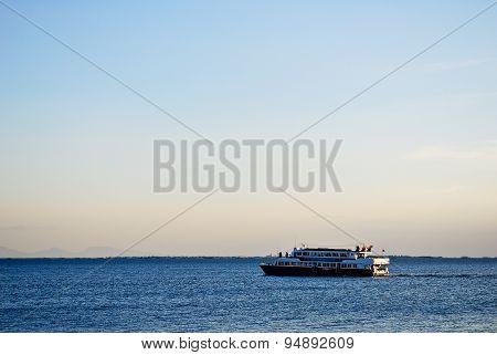 Ferry Cruise on Beautiful Tropical Sea