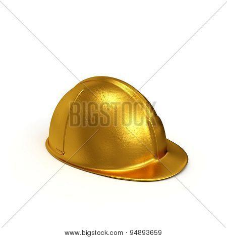 Golden Constructing Helmet Side View