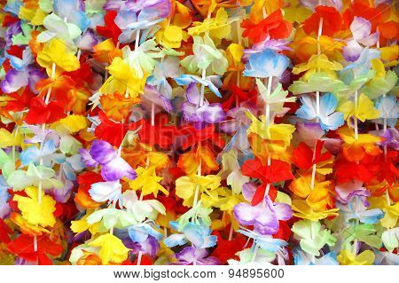 colorful garlands filling the entire picture --