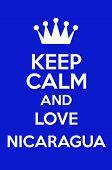 Keep Calm And Love Nicaragua Poster Art poster