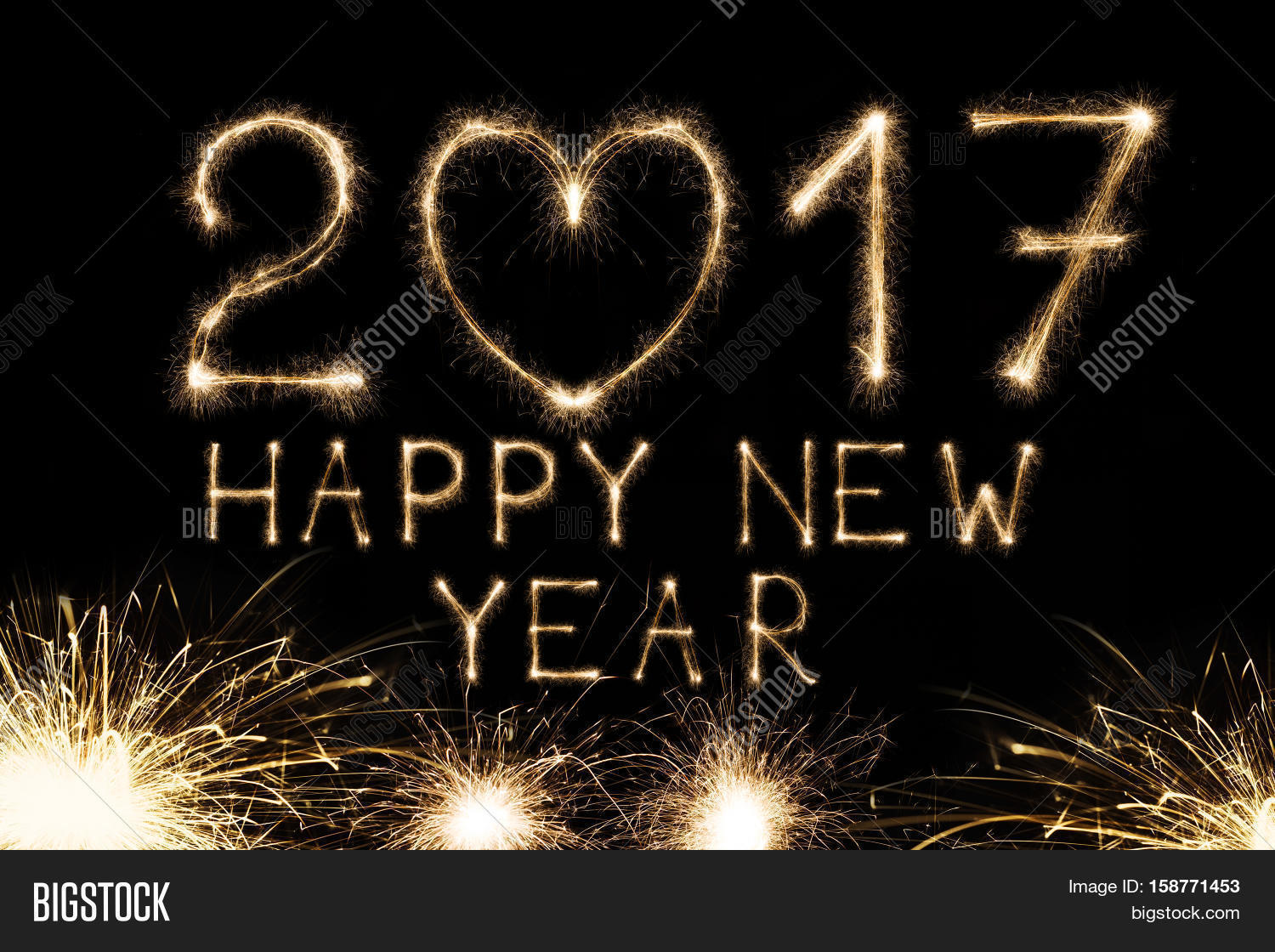 2017 New Year Text Image Photo Free Trial Bigstock