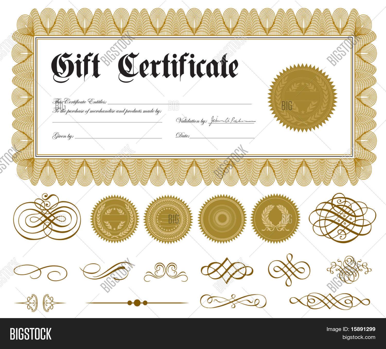 Vector y foto Vector Certificado (prueba gratis) | Bigstock