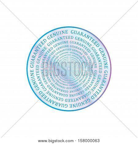 Holographic design illustration round stamp shape sticker quality emblem