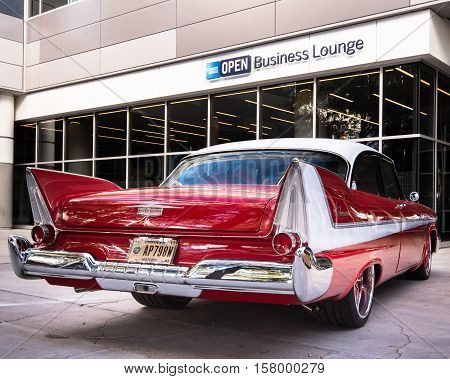 LAS VEGAS NV/USA - OCTOBER 31 2016: Customized Plymouth Fury car at the Specialty Equipment Market Association (SEMA) 50th Anniversary auto trade show. Builder: The Custom Shop