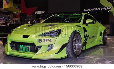 LAS VEGAS NV/USA - OCTOBER 31 2016: Customized Scion FR-S car at the Specialty Equipment Market Association (SEMA) 50th Anniversary auto trade show. Booth: Voodoo Ride