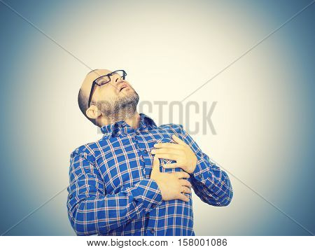 Man Suffering From Bad Pain In Heart