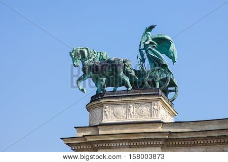 Statue Of Peace In Budapest, Hungary