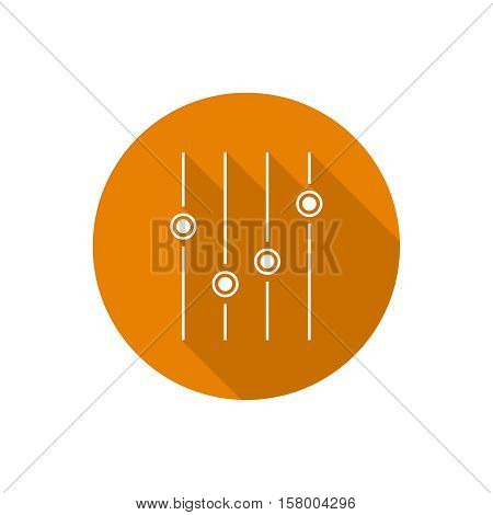 Equalizer musical symbol, sound, icon, music, vector, audio, digital equalizer design volume player mixing bar Vector symbol icon