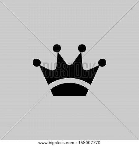 Crown Icon In Trendy Flat Style Isolated On Grey Background. Symbol For Your Web Site Design, Logo,