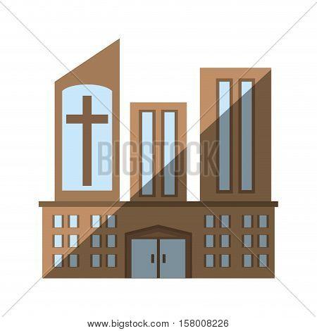 building church religious sacred icon vector illustration eps 10