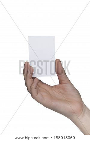 Pure White Sheet Between Her Fingers, Copy Space