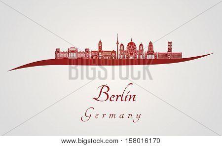 Berlin V2 Skyline In Red