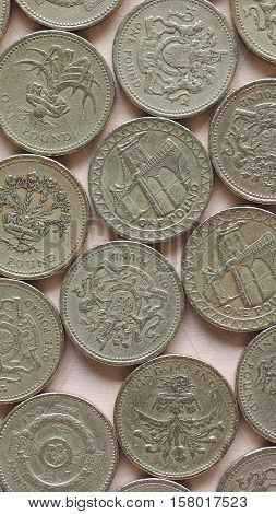 Gbp Pound Coins - Vertical