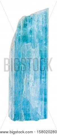 Raw Aquamarine (blue Beryl) Crystal Isolated