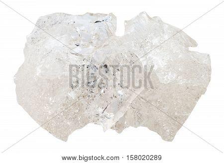 Danburite Gemstone Isolated On White