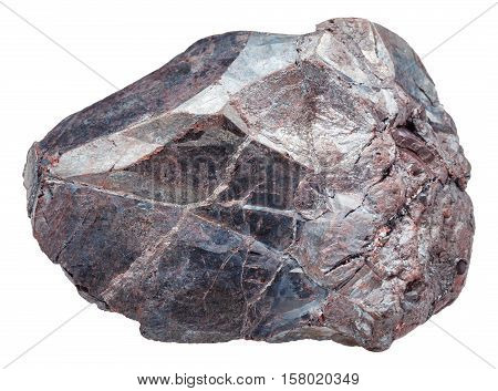 Hematite Rock (iron Ore, Haematite) Isolated