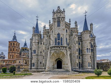 Episcopal Palace in Astorga Spain Castillo and Leon