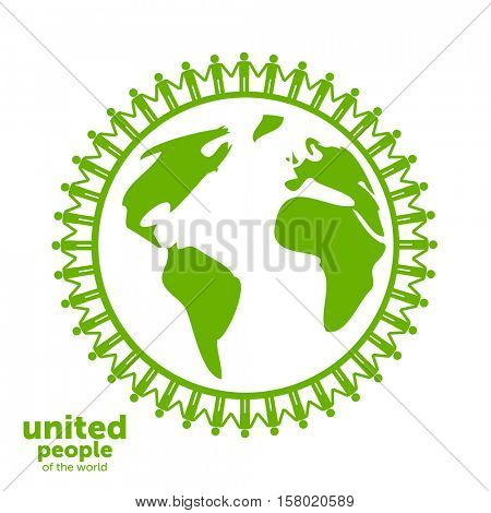Abstract Unity symbol. United people of the world.