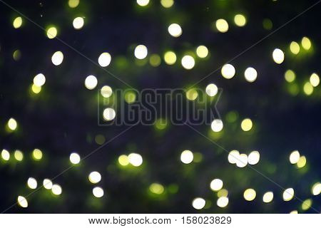 Christmas light with unfocused in the night